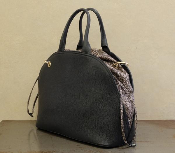 borsa donna borbonese hand bag linea muffin in pregiata oelle e nylon op 924417