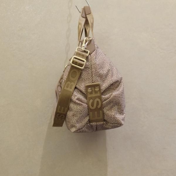 borsa borbonese hobo bag Desert 933375 I15 994 nuovo modello PE 2021 nylon jet op beige brown
