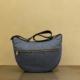 luna bag middle di borbonese in nylon eco e pelle blue black