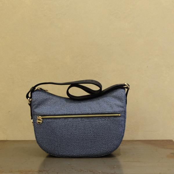 934107-I15-880 luna bag small borsa donna borbonese in nylon eco e vitello