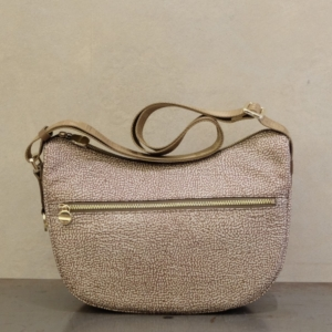 borbonese borsa donna luna bag small 934107 in nylon eco op e dettagli brown