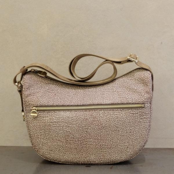 borbonese borsa donna luna bag small 934107 in nylon eco op e dettagli brown