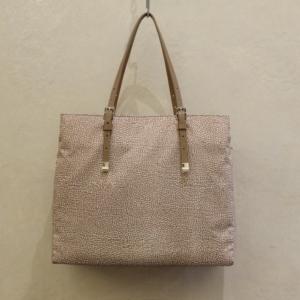 borsa donna borbonese shopping large 934092 in nylon op e dettagli brown