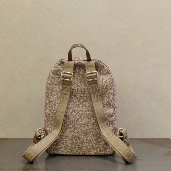 borsa borbonese zaino medium 934105 I15 994 nylon op beige brown