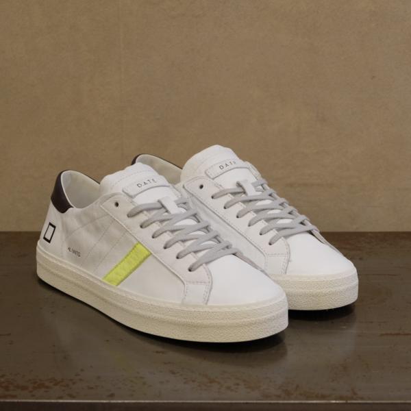 d.a.t.e. hill low vintage calf white yellow sneaker uomo pe 2021 stefanoascari.it