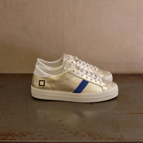 pulsante per acquistare sneaker donna d.a.t.e. hill low glitter platinum