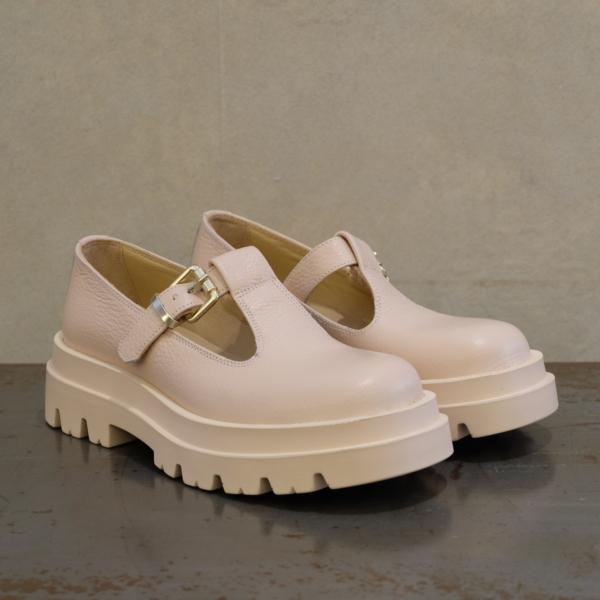 lemarè sandalo donna colore nude stile anni '90 su stefanoascari.it