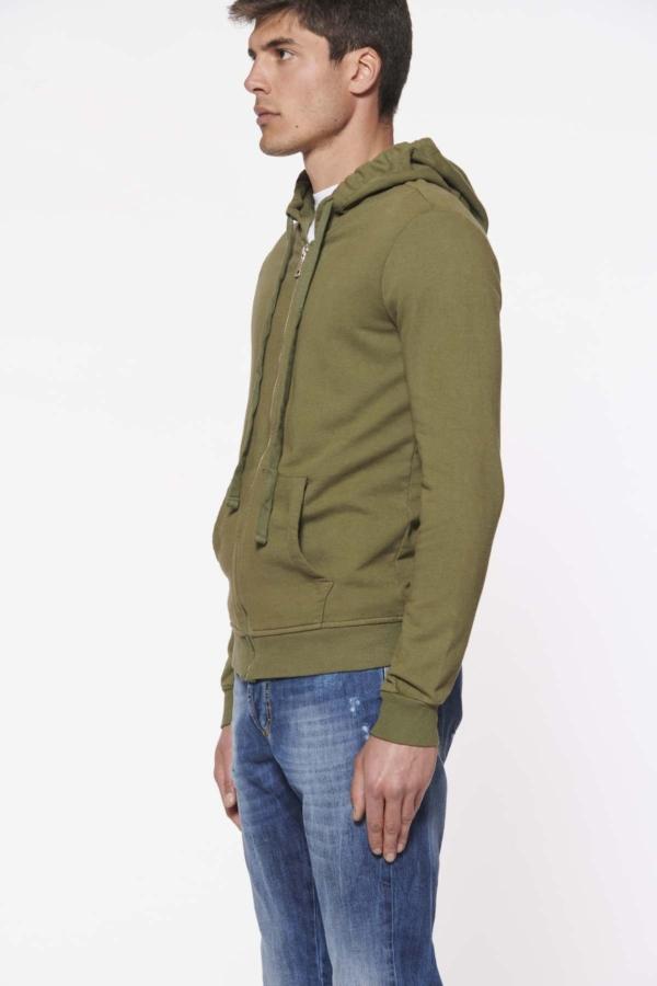 pulsante per acquistare stilosophy felpa uomo cotone verde militare
