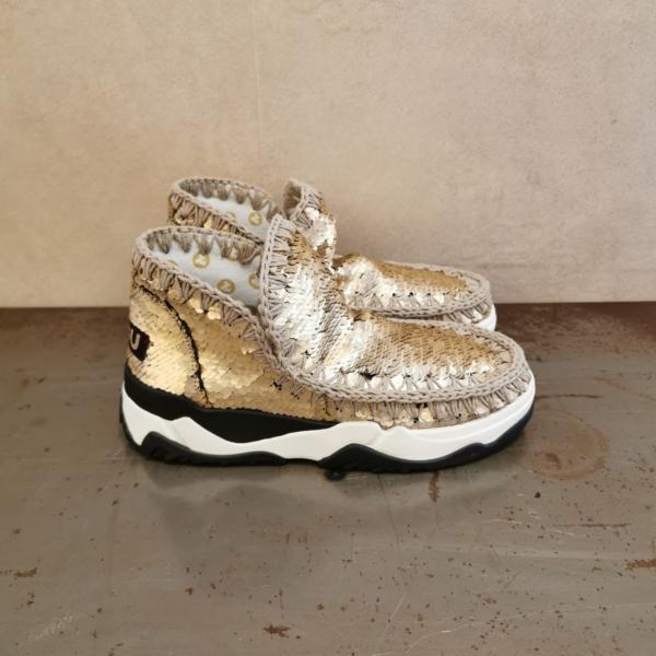 pulsante per acquistare mou eskimo trainer all sequins gold