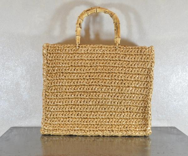pulsante per acquistare borse donna rafia Chica