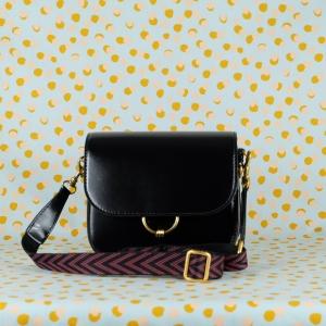 gianni chiarini borsa a tracolla in pelle lucida colore nero