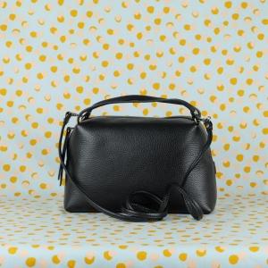 gianni chiarini borsa a mano in pelle martellata colore nerotracolla removibile doppi manici