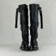 a.s.98 stivale con gambale alto in morbida pelle nera