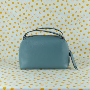 gianni chiarini borsa a mano in pelle martellata colore frozen blue tracolla removibile doppi manici