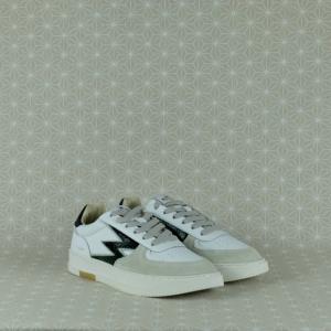 MOA MG48 master legacy in pelle e suede colore bianco con dettagli pitone