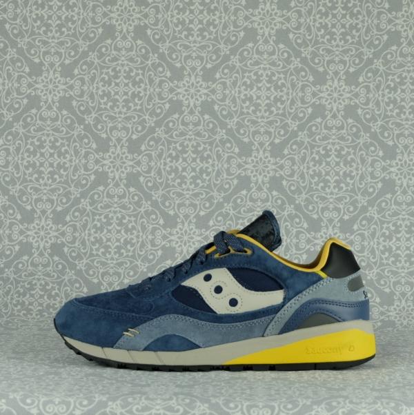 saucony shadow 6000 70587/2 navy yellow sneaker uomo con lacci in due colori e suola super ammortizzata. In vendita su www.stefanoascari.it